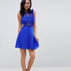 ASOS Lace Pinafore Mini Dress